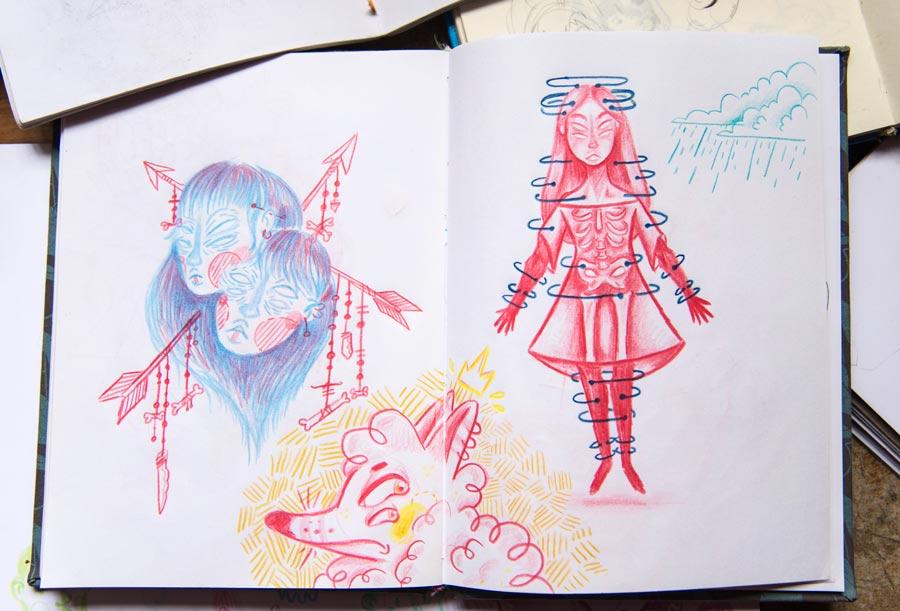 Dibujos De Mi Libreta: Las Libretas De Dibujo De 10 Artistas Colombianos
