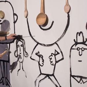 La línea simple y garabateada de Serge Bloch