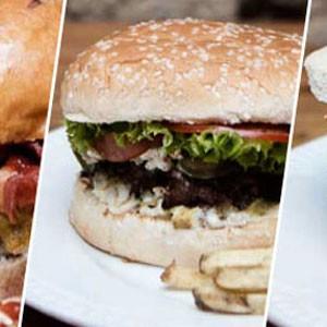 Aprenda a comer hamburguesas