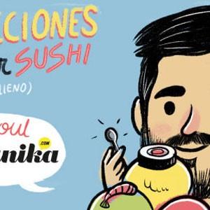 Instrucciones para comer sushi