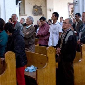 Ir a misa a Egipto