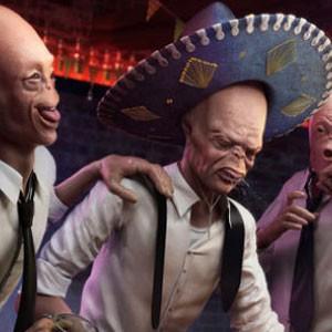 Aliens drunk